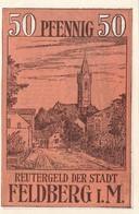 Billet Allemand - 50 Pfennig - Feldberg In Mecklenburg 1922 - Strassenmotiv - [11] Emissions Locales