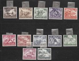 Deutschland Deutsches Reich  Falz  831-842 Tag Der Wehrmacht 1943  Katalog 7,00 - Deutschland