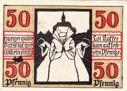Billet Allemand - 50 Pfennig - Naumburg An Der Saale 1920 - Stadtwappen, Verzweifelte Bevölkerung - [11] Emissions Locales