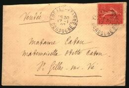 Tocane-Saint-Apre - Dordogne - 1907 - Pour Saint-Gilles-Croix-de-Vie - Vendée - Marcophilie (Lettres)