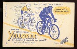 BUVARD:  CHAINE YELLOREX - FORMAT 13,5X21 Cm - Moto & Vélo
