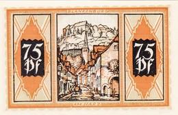 Billet Allemand - 75 Pfennig - Braunschweig 1921 - Ortswappen, Ansicht Von Blankenburg - [11] Emissions Locales