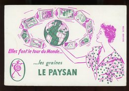 BUVARD:  GRAINES LE PAYSAN - FORMAT 13,5X20,5 Cm - Agriculture