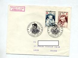 Lettre Cachet Cagnes Esxposition Renoir Sur Croix Rouge - Marcophilie (Lettres)
