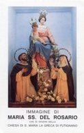 Putignano (Bari) - Santino MARIA SS. DEL ROSARIO Chiesa Di Santa Maria La Greca - PERFETTO P90 - Religione & Esoterismo
