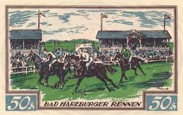 Billet Allemand - 50 Pfennig - Braunschweig 1921 - Chevauxrennen In Bad Harzburg, Stadtwappen - [11] Emissions Locales