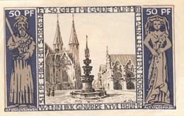 Billet Allemand - 50 Pfennig - Braunschweig 1921 - Vue De Altstadtmarkt, Stadtwappen - [11] Emissions Locales