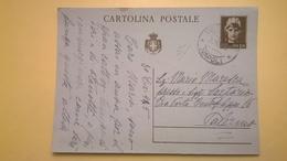 1945 INTERO CARTOLINA POSTALE POSTCARDS ANNULLO NAPOLI PER PALERMO LIRE 1,20 - 4. 1944-45 Repubblica Sociale