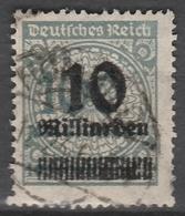 Deutsches Reich    .    Michel    .     337 A       .       O        .      Gebraucht - Deutschland