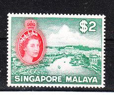 Singapore -1955. Fiume Di Singapore. River. Rare MNH High Value Of The Serie - Geografia