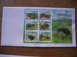 2013 FDC Alderney Beetles, Insecte, Coléoptère - Alderney
