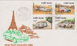 FDC VIET NAM : RALLYE PARIS DAKAR ( NISSAN,SUZUKI,LADA,FORD ) - Automovilismo