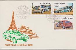 FDC VIET NAM : RALLYE PARIS DAKAR ( PEUGEOT,LANCIA,MAZDA ) - Automovilismo