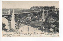 BERN Die Kornhausbrücke Einweihung 18. Juni 1898 Gel. 1901 Rasierklingenstempel - BE Berne