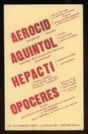 BUVARD: LABO DE L'AEROCID - FORMAT 13,5X21 Cm - Produits Pharmaceutiques