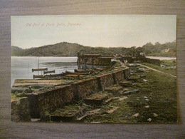 Tarjeta Postal Postcard - Panama - Old Fort At Porto Bello - Boats Marine - Vibert & Dixon Kodaks 33 - Panama