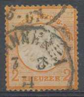 [602477]N° 8, 2k Orange, Aigle En Relief, Coin Rond, Pas D'autre Défaut - Gebraucht
