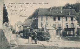 I54 - 38 - PONT-DE-BEAUVOISIN - Isère - Gare Du Tramway - Place Carouge - France