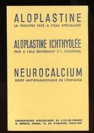 BUVARD: PATE ALOPLASTINE - FORMAT 12X18 Cm - Produits Pharmaceutiques