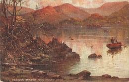 """A. De Breanski. Derwentwater Lake"" Tick Oilette Picturesque Eglish Lakes Ser. PC # 7895 - Tuck, Raphael"
