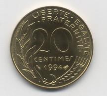 20 CENTIMES  1994 UNC ABEILLE NEUVE - France