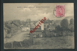 Sivry- Rance. Un Coin  Panoramique Du Village. Rue Godart.  1921. 2 Scans. - Sivry-Rance