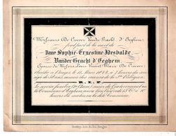 Faire-part De Décès De Dame Sophie VANDER GRACHT D'EEGHEM épouse De Messire De Croeser En 1844 - Décès
