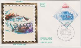 FDC MONACO : RALLYE DE MONTE CARLO 1981 - Automovilismo