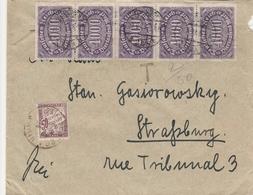 Allemagne Lettre Inflation Taxée En Alsace 1923 - Allemagne