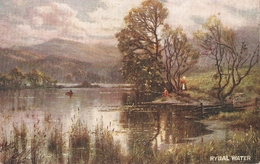 """A. De Breanski. Rydal Water  Lake"" Tick Oilette Picturesque Eglish Lakes Ser. PC # 7895 - Tuck, Raphael"