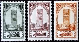 1917 Maroc Yt 63, 64, 65 . Rabat (Tower Of Hassan) . Neufs Traces Charnières - Neufs