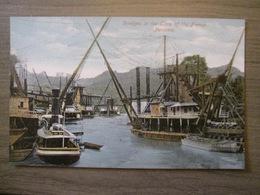 Tarjeta Postal Postcard - Panama - Dredges In The Time Of The French - Boat Marine Harbor - Vibert & Dixon Kodaks 1 - Panama