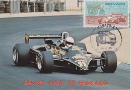 FDC MONACO : 1883-1983 Le Moteur à Explosion Grand Prix De MONACO LOTUS - Automovilismo