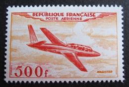 "DF50500/256 - 1954 - POSTE AERIENNE - FOUGA "" MAGISTER "" - N°32 NEUF* - Cote : 110,00 € - Poste Aérienne"