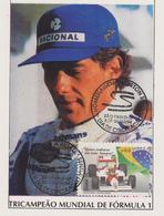 FDC BRESIL : HOMMAGE A AYRTON SENNA TRIPLE CHAMPION DU MONDE DE F1 - Automovilismo