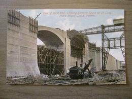 Tarjeta Postal Postcard - Panama - View Of West Wall Concrete Spans Pedro Miguel Locks Canal - Vibert & Dixon Kodaks 11 - Panama