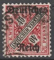 Deutsches Reich    .    Michel    .     Dienst  62        .       O        .      Gebraucht - Dienstpost