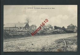 Sivry- Rance. La Scierie Hannoteau Et La Gare.  Voir Dos, Griffe Sivry.  2 Scans - Sivry-Rance