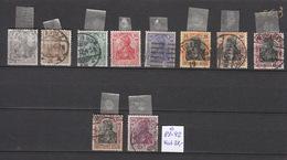 Deutschland  Deutsches Reich  Gestempelt  83-92 Germania Katalog 38,00 - Deutschland