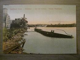 Tarjeta Postal Postcard - Panama - Cantilever Crane Cristobal Old Sucker French Machinery - Maduro Photographer 13a - Panama