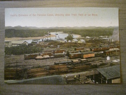 Tarjeta Postal Postcard - Panama - Pacific Entrance Panama Canal - Train Yard La Boca - Maduro Photographer 58 - Panama