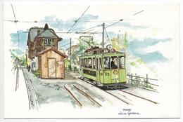 BLONAY-CHAMBY Chemin De Fer-musée, Aquarelle De Olivier Geerinck - VD Vaud