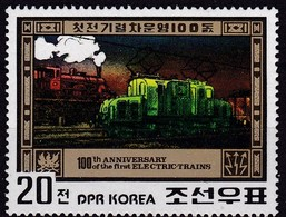 1980, Korea-Nord, 2068, 100 Jahre Elektrische Eisenbahn, Lokomotiven,  Railway, ** - Korea (Nord-)