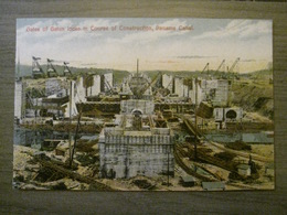 Tarjeta Postal Postcard - Panama - Gates Of Gatun Locks In Course Of Construction - Panama Canal - Maduro Jr. 1D - Panama