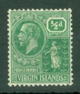 British Virgin Is: 1922/28   KGV   SG86    ½d       MH - British Virgin Islands