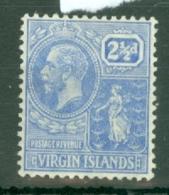 British Virgin Is: 1922/28   KGV   SG93    2½d  Pale Bright Blue    MH - British Virgin Islands