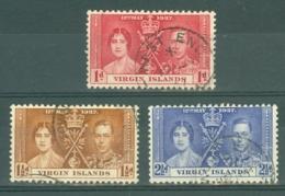 British Virgin Is: 1937   Coronation   Used - British Virgin Islands