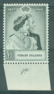 British Virgin Is: 1949   Royal Silver Wedding   SG125   £1   MNH - British Virgin Islands