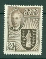 British Virgin Is: 1952   KGVI   SG143   24c   MH - British Virgin Islands