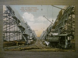 Tarjeta Postal Postcard - Panama - View Of East Chamber Middle Lock Gatun - Locomotive - Panama Canal - Maduro Jr. I - Panama